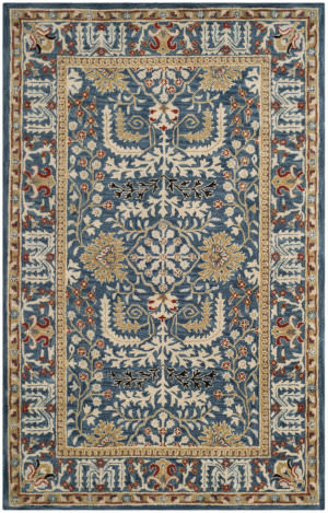 Safavieh Antiquity At64b Dark Blue - Multi Area Rug