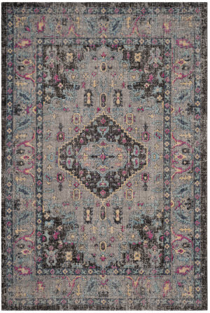 Safavieh Artisan Atn512s Light Grey - Black Area Rug