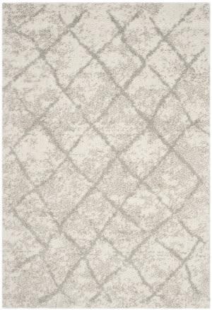 Safavieh Berber Shag Ber162c Cream - Light Grey Area Rug