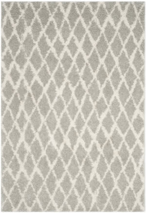 Safavieh Berber Shag Ber163b Light Grey - Cream Area Rug