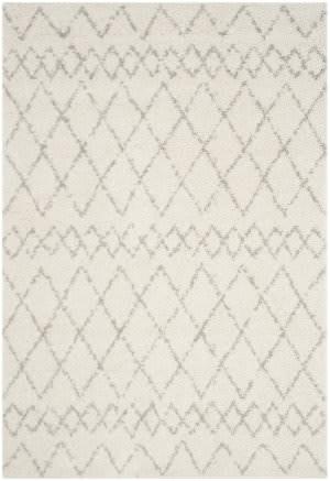 Safavieh Berber Shag Ber165c Cream - Light Grey Area Rug