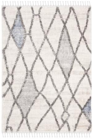 Safavieh Berber Fringe Shag Bfg628a Cream - Blue Area Rug