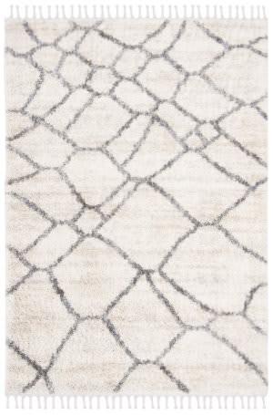 Safavieh Berber Fringe Shag Bfg629a Cream - Grey Area Rug