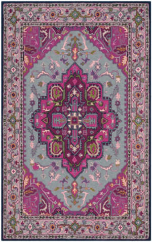 Safavieh Bellagio Blg541b Grey - Pink Area Rug