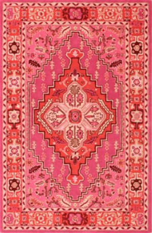 Safavieh Bellagio Blg545b Red - Pink Area Rug