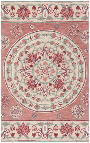 Safavieh Bellagio Blg601q Red - Beige Area Rug