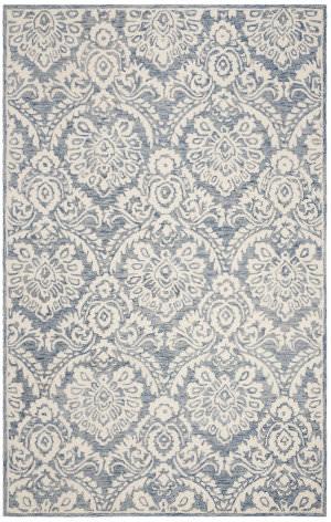 Safavieh Blossom Blm106m Blue - Ivory Area Rug