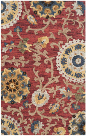 Safavieh Blossom Blm401c Red - Multi Area Rug