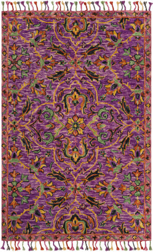 Safavieh Blossom Blm451a Purple - Multi Area Rug