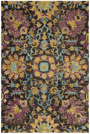 Safavieh Blossom Blm455a Charcoal - Multi Area Rug
