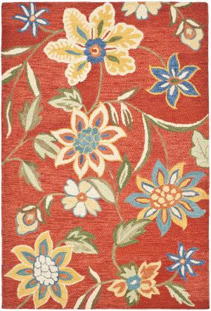Safavieh Blossom Blm673a Rust / Multi Area Rug