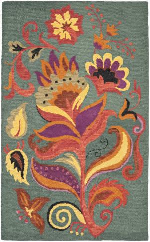 Safavieh Blossom Blm679a Blue / Multi Area Rug