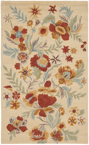 Safavieh Blossom Blm915b Beige / Multi Area Rug