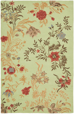 Safavieh Blossom Blm919a Light Green / Multi Area Rug