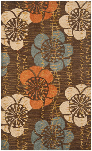 Safavieh Blossom Blm923a Brown - Multi Area Rug