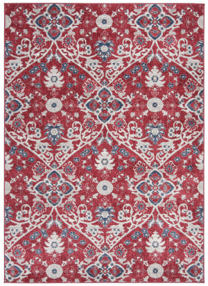 Safavieh Brentwood Bnt894r Red - Ivory Area Rug