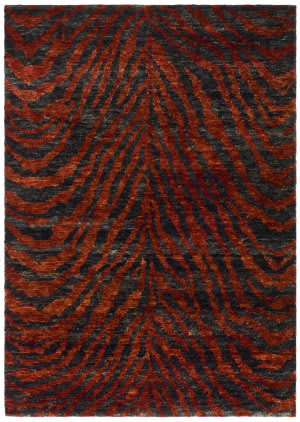 Safavieh Bohemian BOH224B Red / Black Area Rug