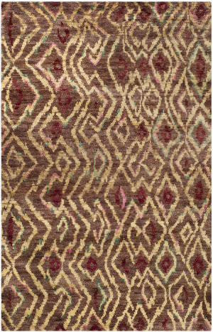 Safavieh Bohemian Boh637a Brown / Gold Area Rug