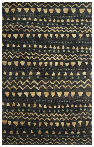 Safavieh Bohemian Boh653a Black - Gold Area Rug
