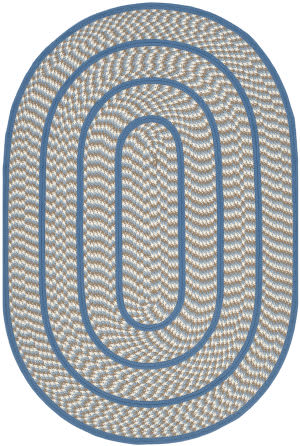 Safavieh Braided Brd401a Ivory / Blue Area Rug