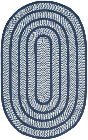 Safavieh Braided Brd401d Ivory / Navy Area Rug