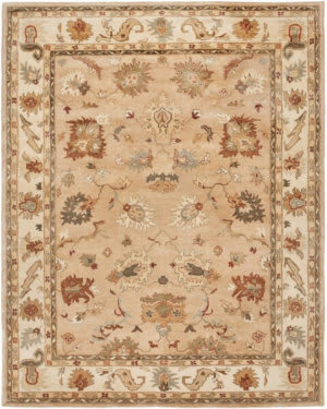 Ivory And Taupe Round Rug At Rug Studio