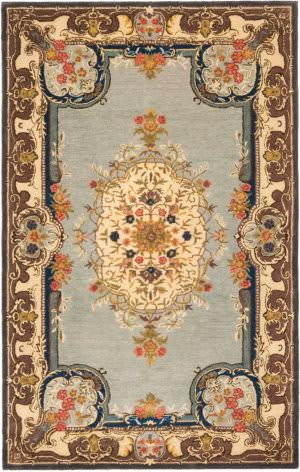 Safavieh Bergama BRG141A Light Blue / Ivory Area Rug
