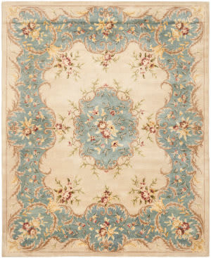 Safavieh Bergama BRG166A Ivory / Light Blue Area Rug