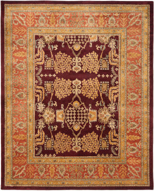 Safavieh Bergama BRG190C Red / Rust Area Rug
