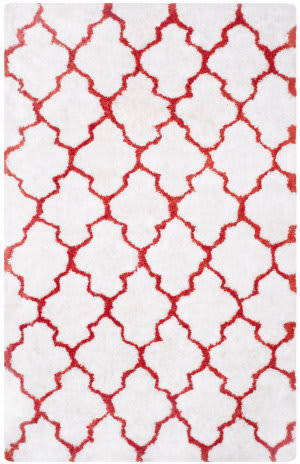 Safavieh Barcelona Shag Bsg319e White / Rust Area Rug