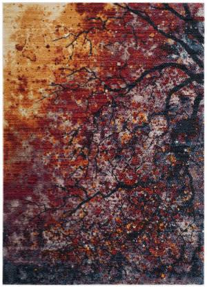 Safavieh Calista Cal403a Lavender - Rust Area Rug