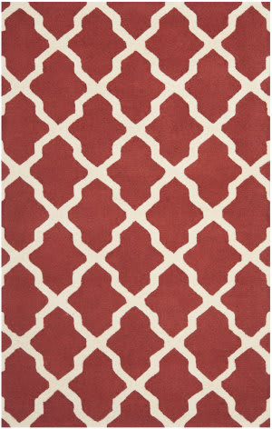 Safavieh Cambridge Cam121l Rust / Ivory Area Rug