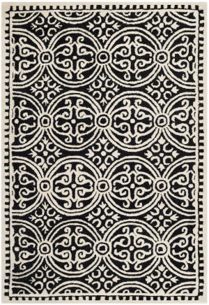 Safavieh Cambridge Cam123e Black / Ivory Area Rug