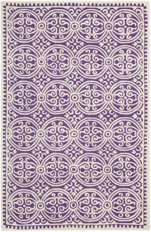 Safavieh Cambridge CAM123K Purple / Ivory Area Rug