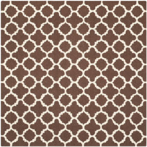 Safavieh Cambridge Cam130h Dark Brown / Ivory Area Rug
