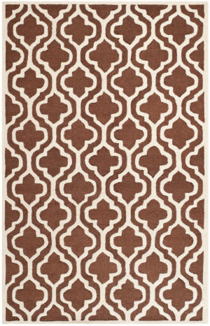 Safavieh Cambridge CAM132H Dark Brown / Ivory Area Rug
