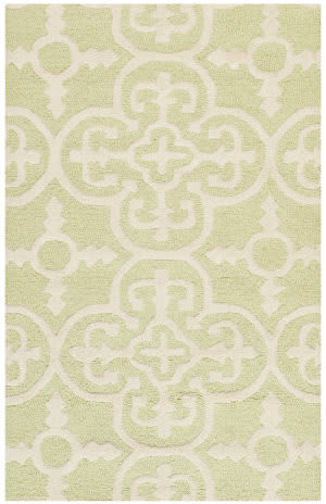 Safavieh Cambridge Cam133b Light Green / Ivory Area Rug