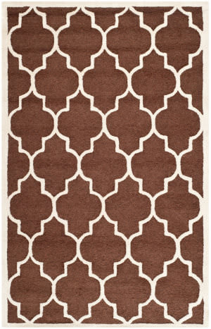 Safavieh Cambridge Cam134h Dark Brown - Ivory Area Rug