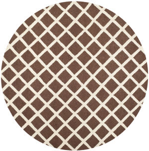 Safavieh Cambridge Cam135h Dark Brown / Ivory Area Rug