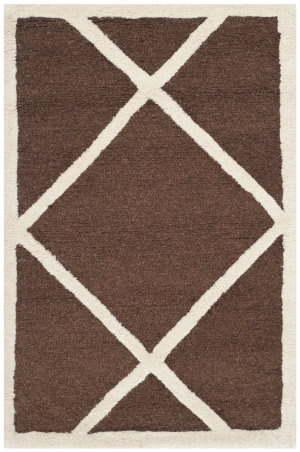 Safavieh Cambridge Cam136h Dark Brown / Ivory Area Rug