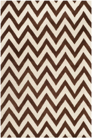 Safavieh Cambridge Cam139h Dark Brown / Ivory Area Rug