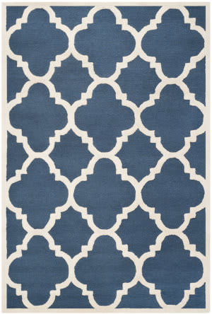 Safavieh Cambridge Cam140g Navy / Ivory Area Rug
