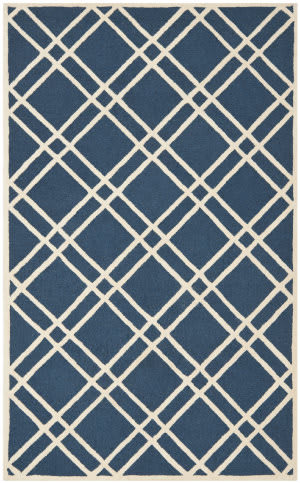 Safavieh Cambridge CAM142G Navy Blue / Ivory Area Rug