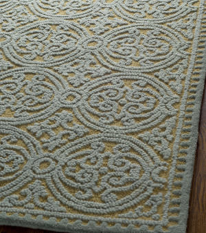 Safavieh Cambridge Cam234a Blue / Gold Area Rug