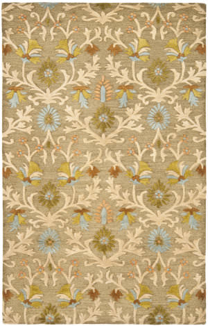 Safavieh Cambridge Cam235a Moss / Multi Area Rug