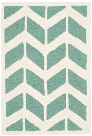 Safavieh Cambridge Cam718t Teal - Ivory Area Rug