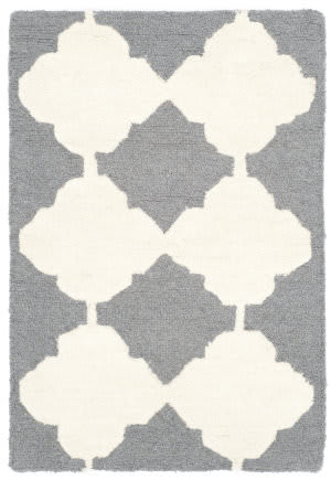 Safavieh Cambridge Cam719d Dark Grey - Ivory Area Rug