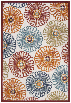 Safavieh Cabana Cbn801a Creme - Red Area Rug