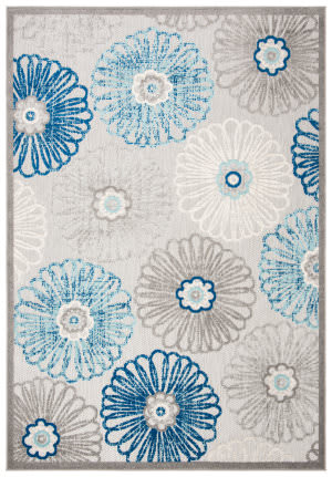 Safavieh Cabana Cbn801f Grey - Blue Area Rug