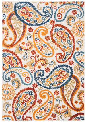 Safavieh Cabana Cbn887a Cream - Navy Area Rug